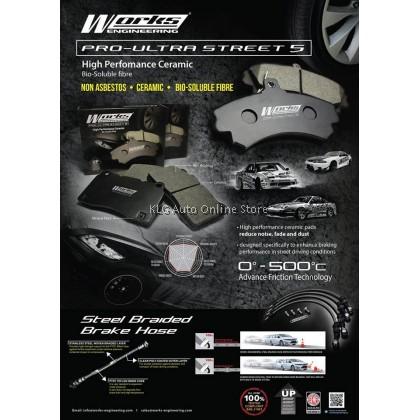Works Brake Pad - Civic EK EG SR3 SR4 / Stream / ES 1.7 Vtec  0° - 500